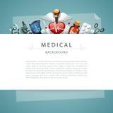 Blauwe Medische Achtergrond met Exemplaarruimte Royalty-vrije Stock Afbeeldingen
