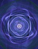 Blauwe meditatie stock illustratie