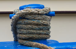Blauwe meerpaal Stock Foto
