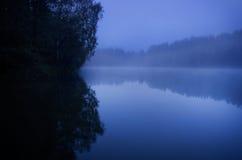 Blauwe melancholische aard Stock Fotografie