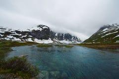 Blauwe meren van Noorwegen Stock Foto's