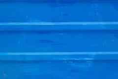 Blauwe metaalomheining geschilderde achtergrond royalty-vrije stock foto's