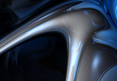 Blauwe metallachtergrond Royalty-vrije Stock Foto's