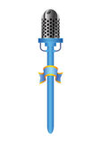 Blauwe mic Stock Fotografie