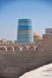 Blauwe minaret Royalty-vrije Stock Foto's
