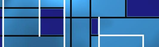 Blauwe moderne samenstelling royalty-vrije illustratie