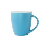 Blauwe mok op wit Royalty-vrije Stock Afbeelding