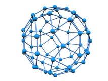 Blauwe molecule Stock Foto's