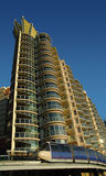 Blauwe monorail royalty-vrije stock foto
