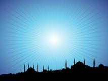 Blauwe Moskee stock illustratie
