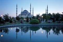 Blauwe moskee 2 royalty-vrije stock afbeelding