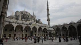 Blauwe moskee stock video
