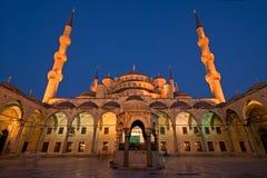 Blauwe Moskee bij Schemer Royalty-vrije Stock Foto's