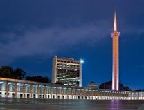 Blauwe moskee Djakarta stock foto