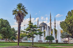 Blauwe moskee, Instanbul Stock Foto