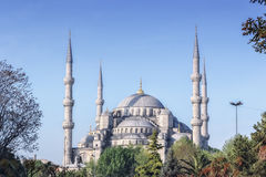 Blauwe moskee in Istanboel Stock Afbeelding