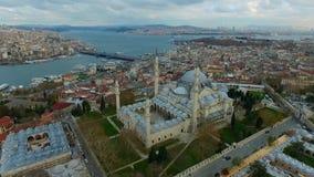 Blauwe Moskee in Istanboel, Turkije stock video