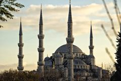 Blauwe moskee, Istanboel, Turkije Royalty-vrije Stock Foto