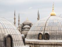 Blauwe Moskee in Istanboel, Turkije Stock Afbeelding