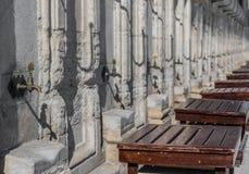 Blauwe Moskee, Oude Stad Istanboel Turkije royalty-vrije stock fotografie