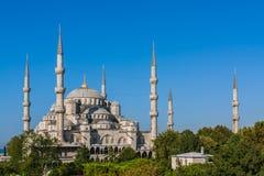 Blauwe Moskee, Sultanahmet, Istanboel Royalty-vrije Stock Afbeeldingen