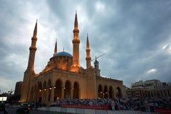 Blauwe Moskee van Beiroet royalty-vrije stock fotografie