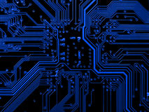 Blauwe motherboard royalty-vrije stock foto's