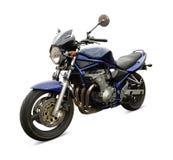 Blauwe motorfiets royalty-vrije stock fotografie