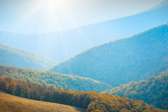 Blauwe mountains_1 Royalty-vrije Stock Afbeelding