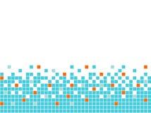Blauwe mozaïekachtergrond, naadloze grens Royalty-vrije Stock Afbeeldingen