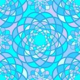 Blauwe mozaïekbloemen Stock Foto