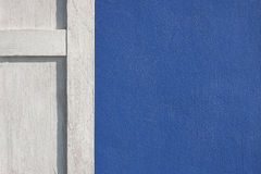 Blauwe muren Stock Foto