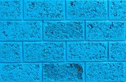 Blauwe muur Stock Fotografie