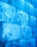 Blauwe muur van ijs stock afbeelding