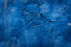 Blauwe muurachtergrond Stock Foto