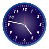 Blauwe muurklok vector illustratie