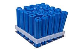 Blauwe muurstoppen Stock Foto's