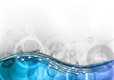 Blauwe muziek Royalty-vrije Stock Fotografie