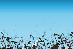 Blauwe Muziek Stock Afbeelding