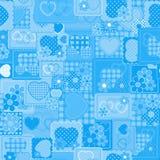 Blauwe naadloze aantrekkingskrachtachtergrond Royalty-vrije Stock Foto's