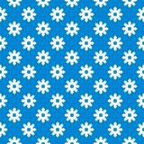 Blauwe naadloze bloemenachtergrond Stock Foto's