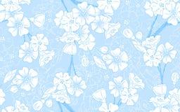Blauwe Naadloze Bloesem Royalty-vrije Stock Fotografie