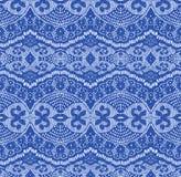 Blauwe naadloze kantstof Royalty-vrije Stock Afbeelding