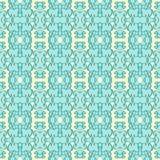 Blauwe naadloze patronenvector als achtergrond Stock Fotografie