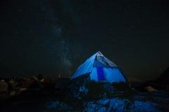 Blauwe nacht Stock Foto