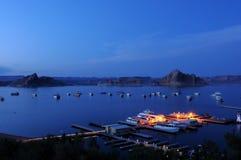 Blauwe Nacht bij Meer Powell Royalty-vrije Stock Fotografie