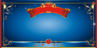 Blauwe nachtuitnodiging Royalty-vrije Stock Foto