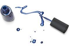 Blauwe nailpolish Stock Afbeelding