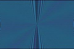 Blauwe neon halftone abstracte achtergrond Hypnotic optische illusietextuur Glitch effect patroon stock illustratie