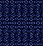 Blauwe neon roterende ventilators, bloemenpatroon, naadloze achtergrond Royalty-vrije Stock Fotografie